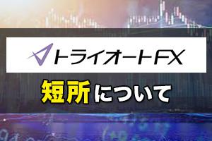 インヴァスト証券トライオートFXの短所